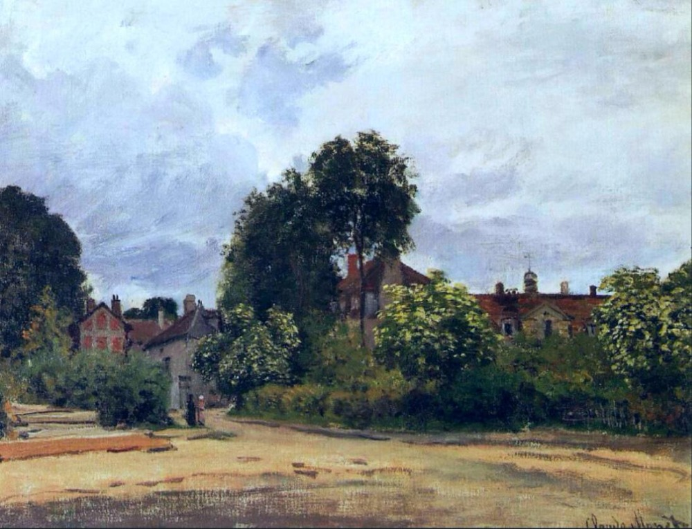 High quality Oil painting Canvas Reproductions Argenteuil, the Hospice (1872)By Claude Monet hand painted