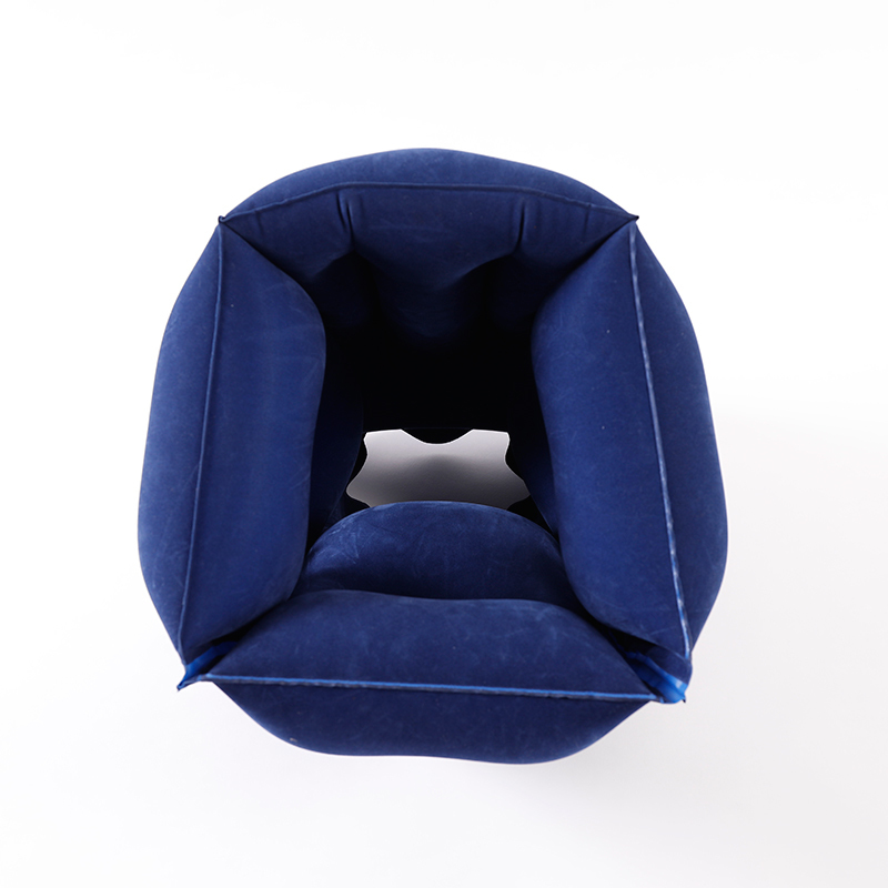 Image 5 - Travelsky Inflatable travel pillow foldable for airplanes train Sleeping flocking PVC soft head neck rest support travel pillows-in Travel Accessories from Luggage & Bags