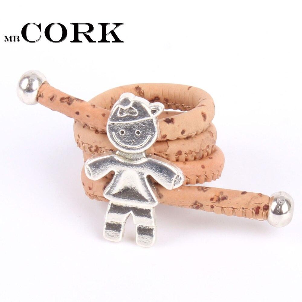 Natural cork Ring Antique sliver boy son vintage women Ring original adjustable handmade ...