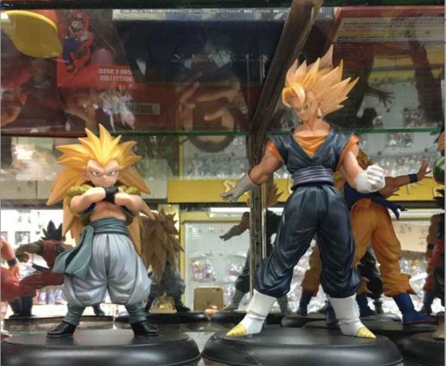 Dragon Ball Z Super Saiyan Son Goku + Gotenks PVC Action Figures Collectible Model Toys 2pcs/set KT2292 dragon ball z super big size super son goku pvc action figure collectible model toy 28cm kt3936
