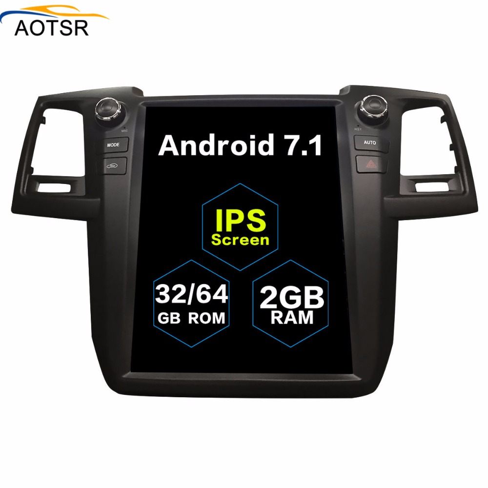 Tesla vertical screen Android 7 1 for TOYOTA Fortuner HILUX Revo 2005 2012 2013 2014 2015