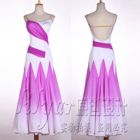 New Ballroom Dance Competition Dresses Elegant Violet Long Dress Sexy Backless Tango Dress Waltz Ballroom Dress Standard BL1844