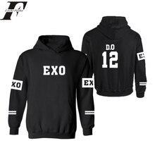 EXO harajuku moletom masculino Kpop Hoodie sweatshirt Hood kar sehun xiumin baekhyun terra sticker sudadera tracksuit roupas 4xl