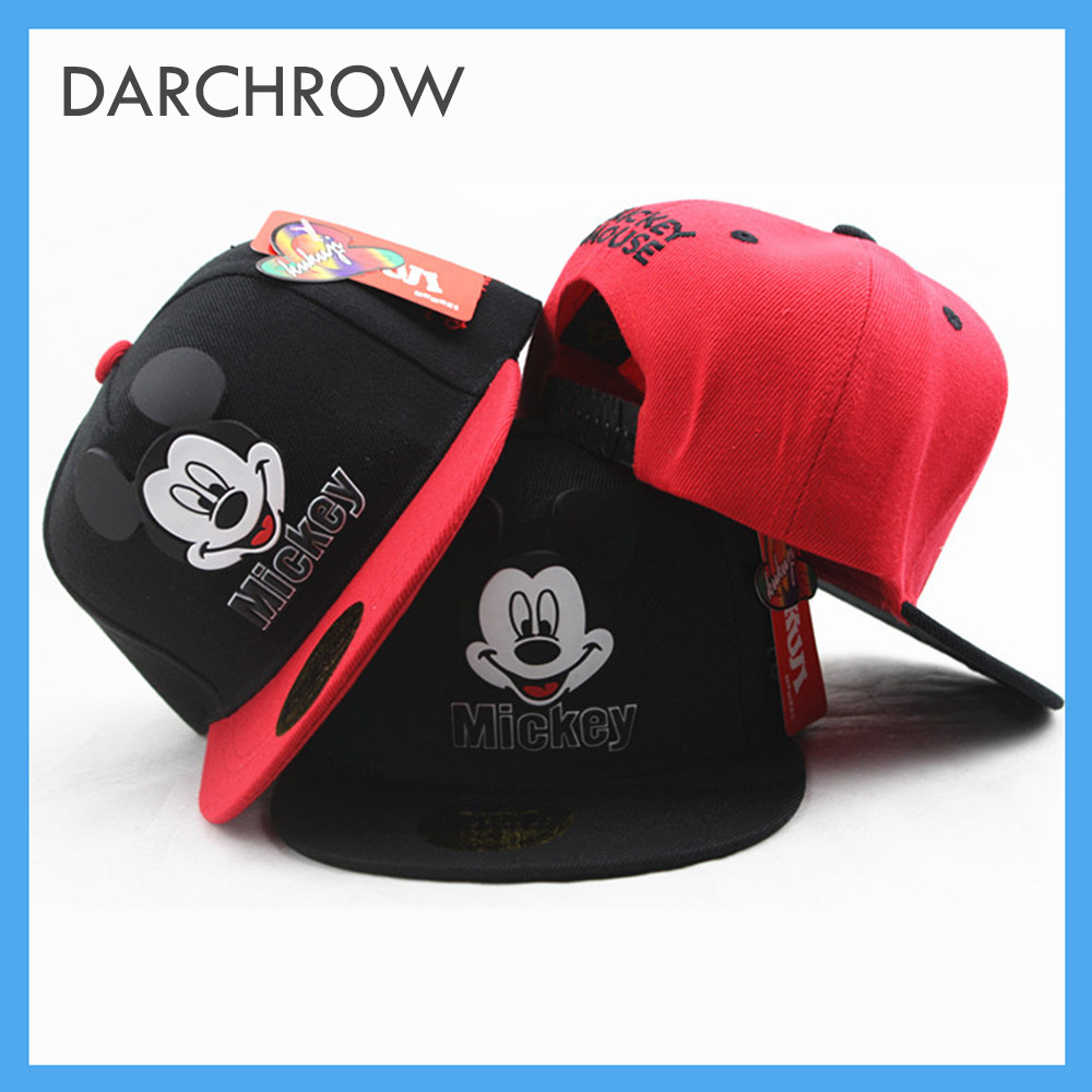 2019Hot 3-8 Years Old Spring And Summer Children's Hat Cute Fun Mickey Children Baby   Baseball     Cap   Cotton Cartoon Hat Hip Hop Hat