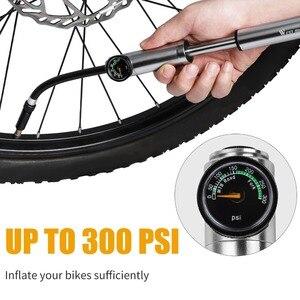 Image 3 - Велосипедный насос, насос для велосипеда, шланг с манометром, 300psi, для вилки, задней подвески, для накачки велосипедных шин, клапан Presta Schrader