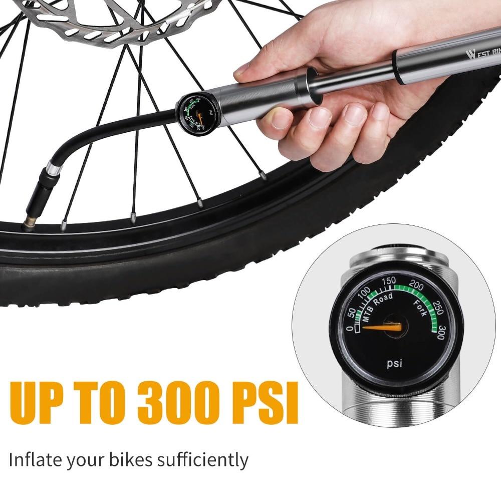 300psi MTB High-Pressure Bicycle//Bike Suspension Air Fork Shock Pump Fitting