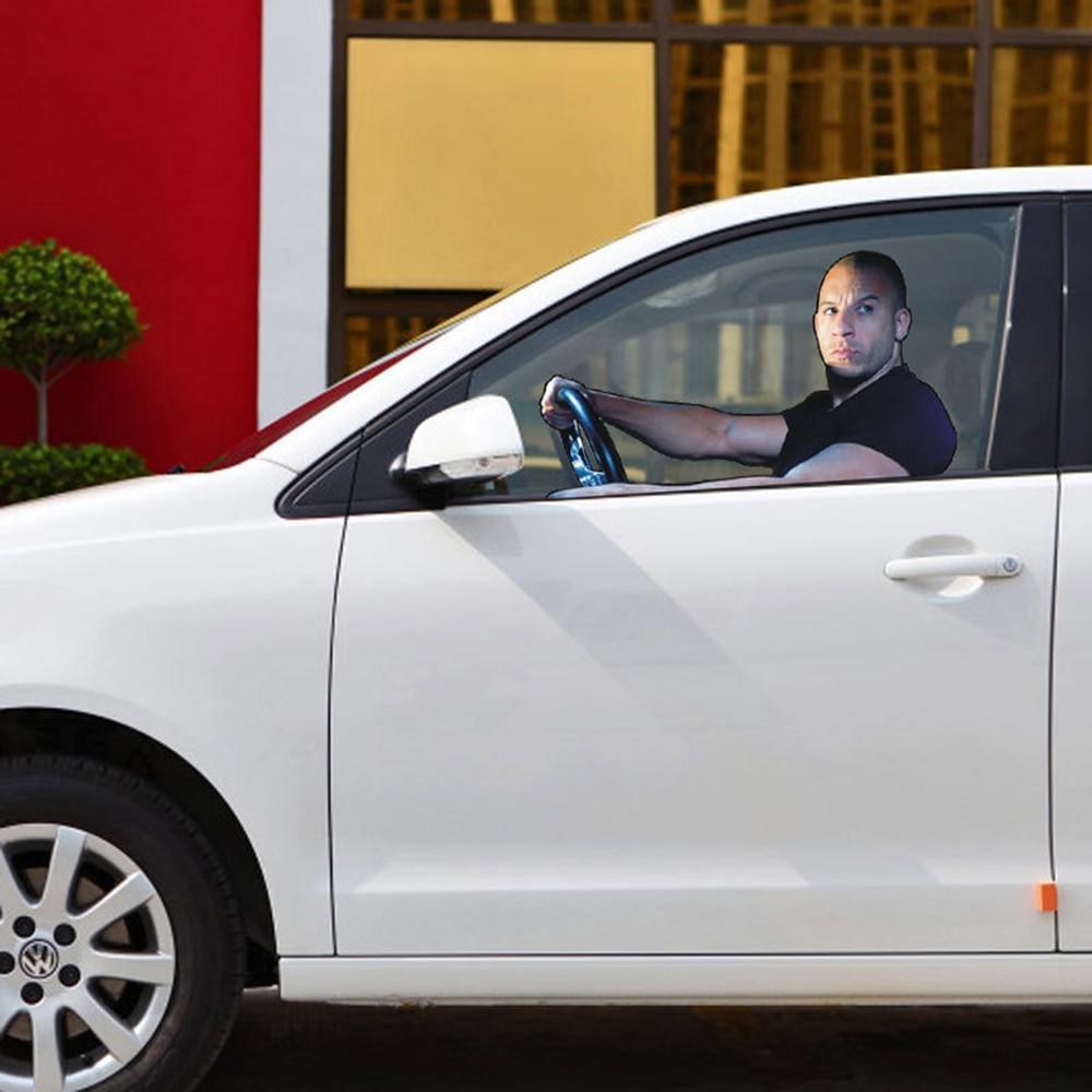 Car styling Fast Furious Paul Walker Vin Diesel Car Window Sticker Glass Accessories Main Drive Perspective