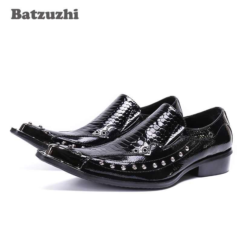 2018 Handmade Luxury Men Shoes Pointed Iron Toe Genuine Leather Dress Shoes Men Black/Red Leather Business, Wedding, Party Shoes pointed toe lace up men luxury genuine leather red wedding shoes men s high heels party dress shoes print flowers fashion shoes
