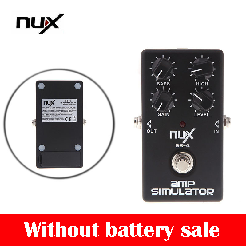 NUX AS-4 High Quality Pedal Guitar Pedal Amplifier Simulator Electric Guitar Effect Pedal True Bypass Guitar Parts & Accessories