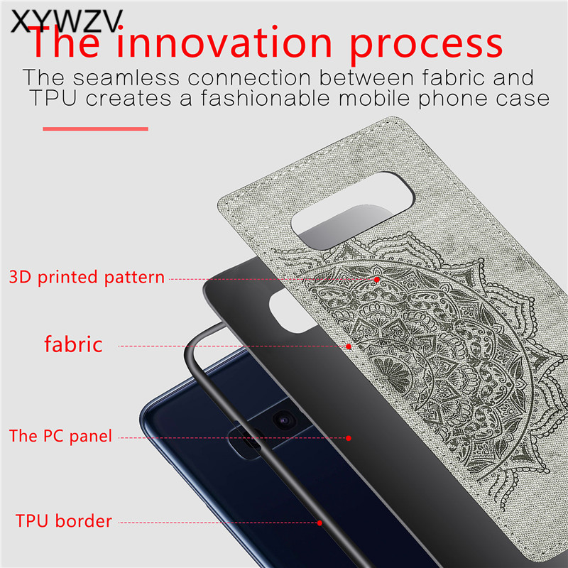 Image 3 - For Samsung Galaxy S10 Lite Case Soft TPU Silicone Cloth Texture Hard PC Phone Case For Samsung S10 Lite Cover For Samsung S10e-in Fitted Cases from Cellphones & Telecommunications
