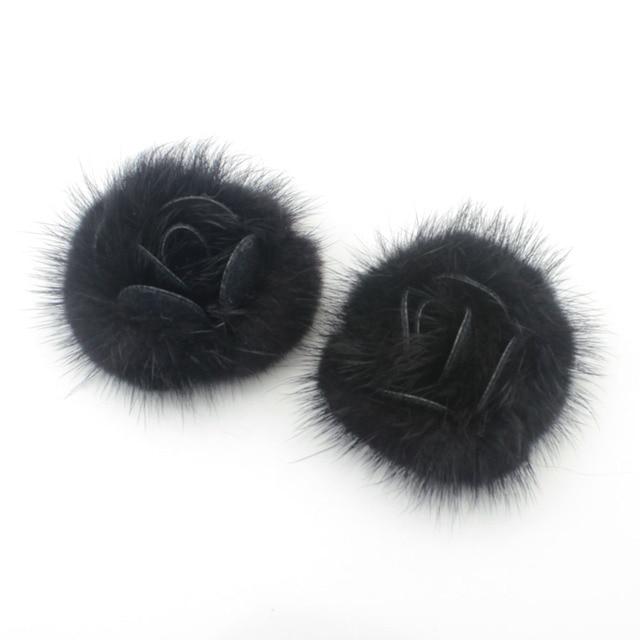 Tevida 10pcs Mink Fur Flower Mink Fur Ball Diy For Jewelery Making