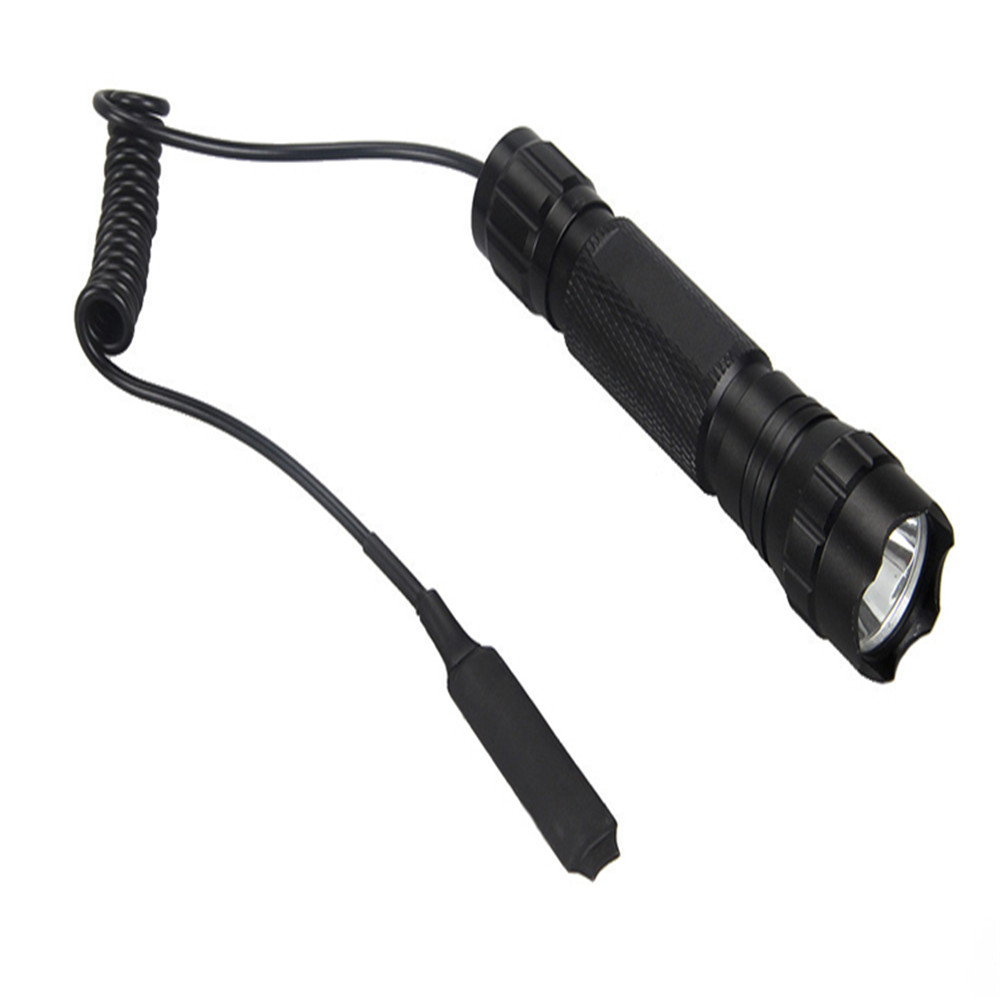 Best Selling 501B XPE Q5 Multicolor LED Tactical Flashlight Pressure Switch 18650 Flashlight LED Street Light Flash in LED Flashlights from Lights Lighting