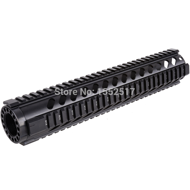 FIRE WOLF Tactical T-Series 12 Free Float Quad Rail Handguard AR Rail System RIS Handguard For .223/5.56 M4 Hunting Accessor