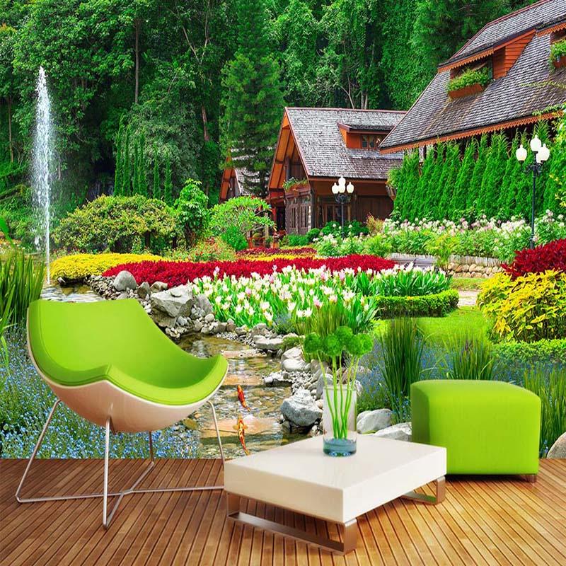 Custom 3D Photo Wallpaper For Walls Villa Garden Nature