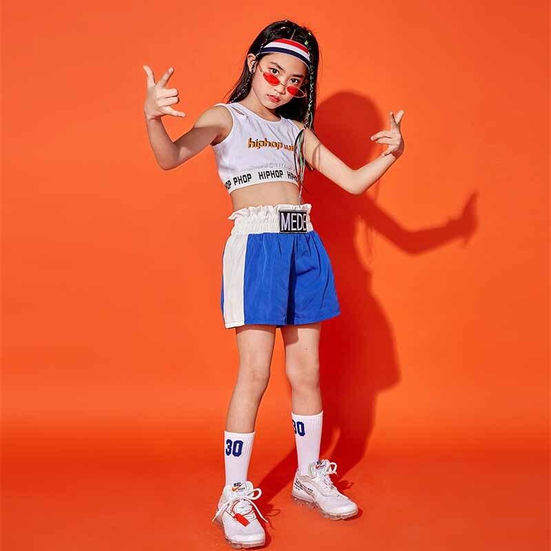 Bambini Costumi Di Danza Jazz Hip-hop Di Stile Studenti Squadre Moderna Di Danza Delle Ragazze Cheerleading Prestazioni Passerella Set Bdy026
