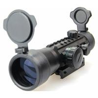 Rifle scope Hunting 2x 49mm Red Dot Rifle scope Sight Fit 11mm/21mm Rail Mount