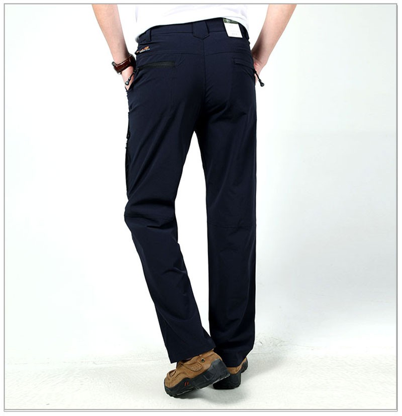 M~3XL 2016 New Spring Mens Plus Size Pants Quick Dry Breathable Long Short Trousers Man Straight Outdoor Waterproof Pantalones (15)