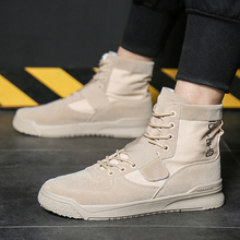 High Quality Men Canvas Shoes 2019 Fashion top Mens Casual Breathable Man Lace up Brand Sneakers