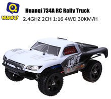 Huanqi 734A RC Car Monster Truck 2.4G 2CH 1:16 4WD High Speed 30KM/H Vehicle Toy Cars For Drift Rock Crawler Remote Control Car