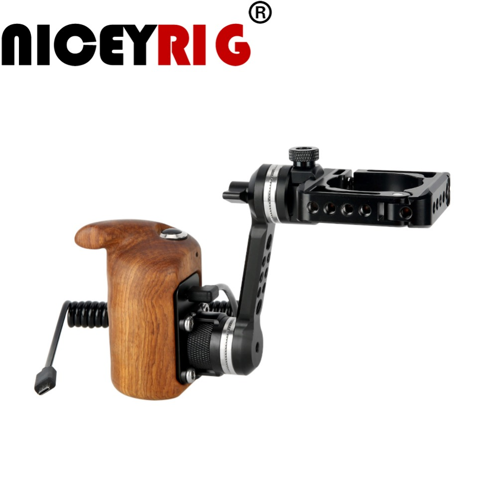 NICEYRIG for DJI Ronin S Hand Held Gimbal Wooden Handle for RoninS Gimbal Grip ARRI Rosette