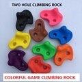 3 PÇS/SET Plástico crianças brinquedo Parede de Escalada Indoor Kit Pedras Rock Crianças Brinquedos de Esportes ao ar livre Playground jogo Com parafuso