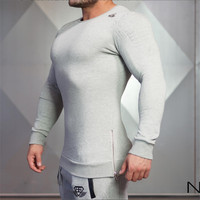 The Body Engineers Bodybuilding Fitness Round Neck Long Sleeve T Shirt Gym Outdoor Sports Leisure Wear