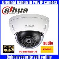 H.265 Оригинал dahua IPC HDBW4830E AS 8MP 4 K звук для камеры с поддержкой POE full HD ИК сеть Камера
