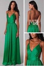 JYHS473 Sexy Emerald Green Evening Dresses Spaghetti Strap Vstido Longo Rosa Open Back Long Robe Soiree 2015 Formal Prom Dress