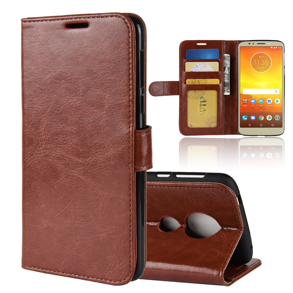 Premium Pu Leather case card holder cover case for Motorola Moto E5 / E5 Plus / E5 Play / E5 Play Go protective case(China)