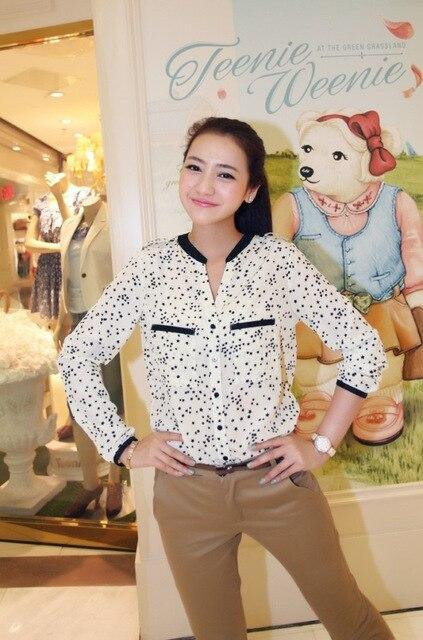 Free shipping,fashion women loose leopard print shirt stand collar long-sleeve shirt