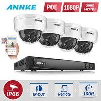 ANNKE специальность 1080P POE камера системы безопасности 8 канальный безопасности NVR и 4x 1080P CCTV купольные камеры