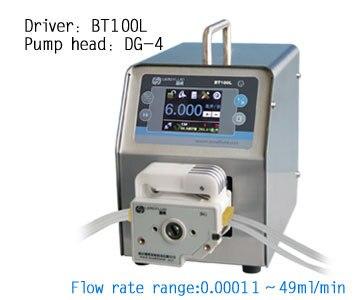 BT100L DG6-4 (6 rouleaux) pompe péristaltique intelligente eau liquide industrie laboratoire pompe de contrôle de débit avec