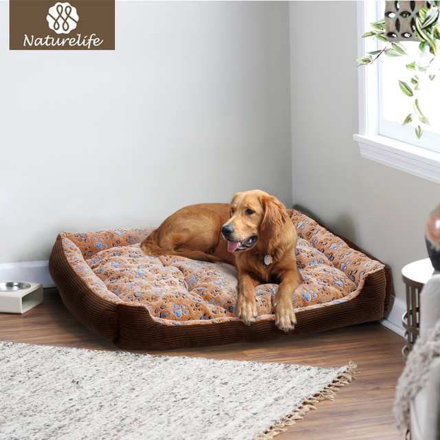 Warm Corduroy Padded Waterproof  Dog Bed