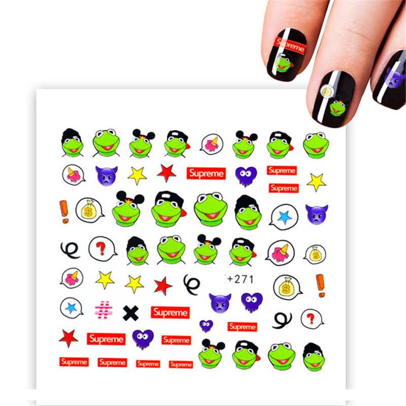 019 32 De Descuentothe Frog Prince Nail Art Decoraciones Pegatinas Para Manicura Pegatinas De Agua Para Uñas Envolturas Consejos Para Uñas De