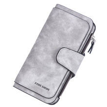 Long Wallet Lady Solid Color Purses Fashion Coin Purse Card Holder Wallets Female Three-fold Ticket Clip Multi-purpose Handbag