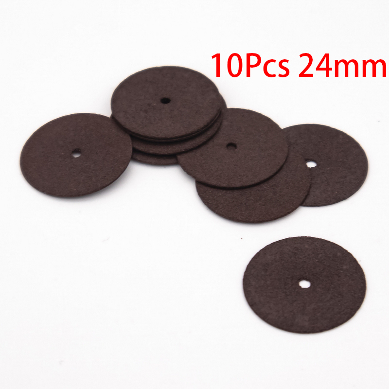 10Pcs 24MM Cutting Abrasive Discs Reinforced Cut Off Grinding Wheels Rotary Blade Disc Tool Parts Accessories Resin Cut-off
