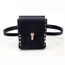 Fashion Pu Leather Waist Packs Bum Bag Women Rivet Belt Money Pouch Travel Bags Lady Bar Nightclub Fanny  wholesale