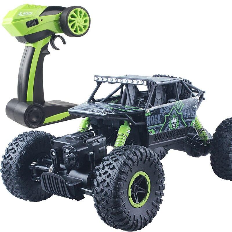 Восхождение RC автомобиль 4WD 2.4 ГГц рок ралли 4x4 двойные двигатели Bigfoot автомобиль дистанционного Управление модель с открытыми внедорожник игрушка 004