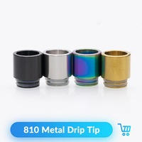 Quartz Banger 20pcs 810 Drip Tip Metal Wide Bore for Kennedy 24 RDA RTA Tank Atomizer Vape Accessories E Cigarette Mouthpieces