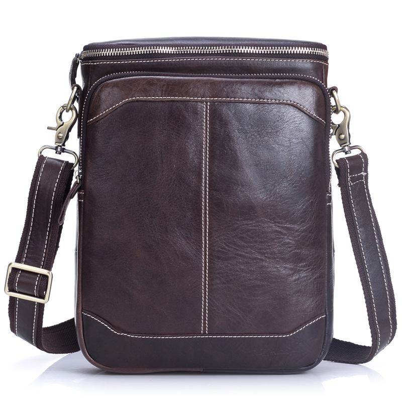 Genuine Leather Men Bags Casual Shoulder Bag Male Small Messenger Bag Fashion Crossbody Handbag Men's Business Bags PT1206 men and women bag genuine leather man crossbody shoulder handbag men business bags male messenger leather satchel for boys