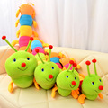 50~200cm Colorful catoon caterpillar plush toy doll soft comfy insect pillow cotton worm bug model sofa car cushion kids gift