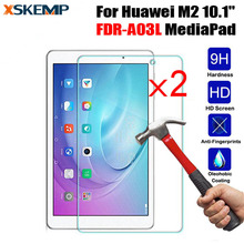 2Pcs/Lot HD Clear 0.3mm 2.5D Premium Tempered Glass Screen Protector For Huawei M2 10.1 FDR-A03L MediaPad Tablet Protective Film