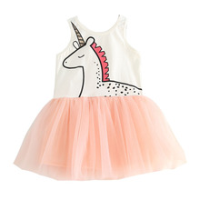 Girl Vest Dress Summer  Sleeveless Princess Dresses Children Evening Dresses Pink Lace Party Tutu Dress Baby Girl Clothes cute fashion summer bubble tutu girl charm baby girls princess dresses ruffles party sleeveless pink dress 1 6y 2016