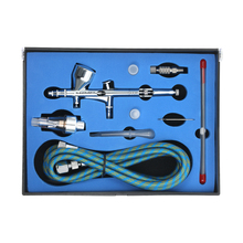 KKmoon Профессиональный Аэрограф Комплект распылитель гравитационный корм распылитель краски Sandblaster 9cc 0,2/0,3/0,5 мм воздушная щетка для художественной краски ing