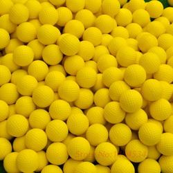 Balle de Golf intérieure élastique balle de jeu souple jaune ballon en polyuréthane de Golf entraînement pratique mousse élastique éponge de Golf balles en caoutchouc Capsules aides