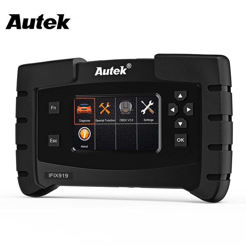 Autek IFIX-919 OBD2 الماسح الضوئي نظام كامل ODB2 سيارة أداة تشخيص ABS نزيف EPB خدمة النفط إعادة OBD OBD 2 السيارات الماسح الضوئي