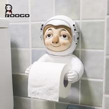 Roogo Ceramic Paper Holder Toilet Cartoon Animal Space Astronaut Bathroom Decorative Dispenser Creative Towel