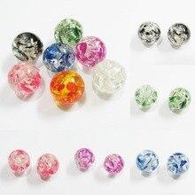 Neueste! 20mm/18mm/16mm/14mm/12mm/10mm/8mm neue Design Transparent Nachgeahmt Blume Perlen Für Chunky Kinder Jewerly