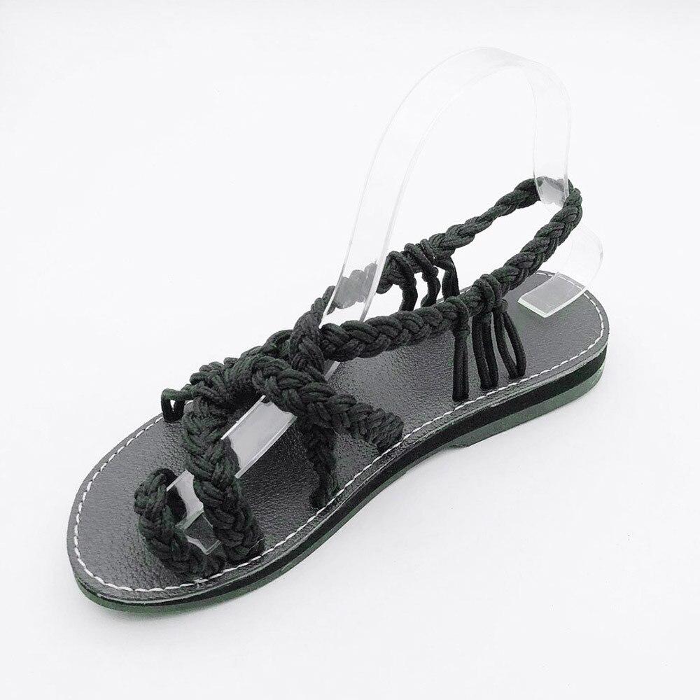 1888420c8 Women Flat Shoes Sandals Ladies Nylon Rope Flip Flops Sandal Summer Sh