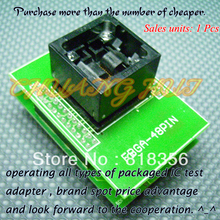 FBGA-48PIN программист адаптер FBGA48 BGA48 в DIP48 адаптер/гнездо IC/ИК тест гнездо